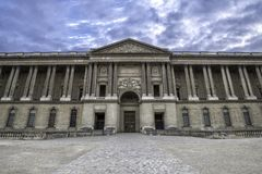 The colonnade of the Louvre Palace in style of classicism France Paris September 2017.  Royalty Free Stock Photo