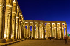 Colonnade in the Luxor temple Stock Photos