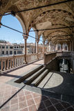 Colonnade of a medieval town hall building (Palazzo della Ragione) Stock Image