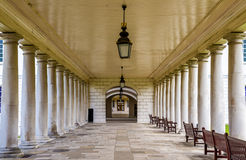 Colonnade in National Maritime Museum in Greenwich Stock Photo