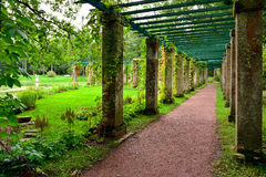 Colonnade near China palace in garden, Oranienbaum , Lomonosov, Stock Photo