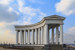 Colonnade near vorontsov palace in Odessa Stock Photo