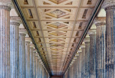 Colonnade in New Museum, Berlin Stock Photography