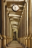 Colonnade with o'clock Stock Photo