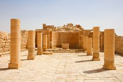 Colonnade Of Ancient Temple Ruins Royalty Free Stock Photos