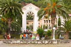 Colonnade in Old Gagra Royalty Free Stock Photography