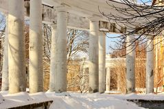 Colonnade of the old manor Royalty Free Stock Photography