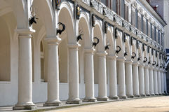 Colonnade of old Stables Courtyard. Royalty Free Stock Photo