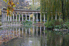 The Colonnade in Parc Monceau Royalty Free Stock Photo
