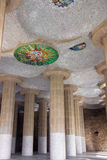 Colonnade in Park Guell Royalty Free Stock Photos