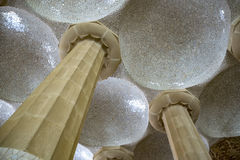 Colonnade of park Guell in Barcelona stock images