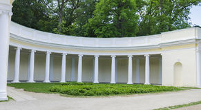 Colonnade in the park Stock Image