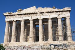 Colonnade of Parthenon Stock Photography