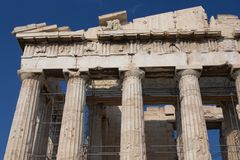 Colonnade of Parthenon Stock Photo