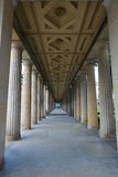 Colonnade. Perspective. Royalty Free Stock Image