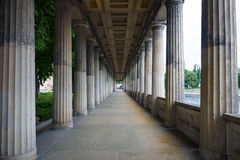 Colonnade. Perspective. Stock Image