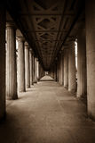 Colonnade. Perspective. Royalty Free Stock Photography