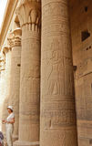 Colonnade in Philae temple, Egypt. Royalty Free Stock Photos