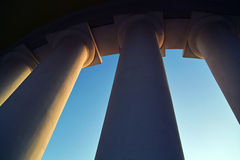 Colonnade. This picture is taken in the city at natural, a daylight, the support is used Royalty Free Stock Photography
