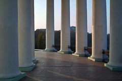 Colonnade. This picture is taken in the city at natural, a daylight, the support is used Royalty Free Stock Photos