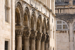 Colonnade of Princely Palace in Dubrovnik Royalty Free Stock Images