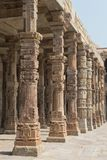 Colonnade at the Qutub Minar in Delhi Stock Images