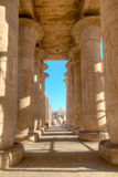Colonnade of the Ramesseum in Luxor, Egypt Stock Images