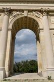 Colonnade Reistna, gloriette romantique de classique près de Valtice, Moravie, République Tchèque Photo stock