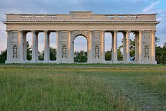Colonnade Reistna. Is situated about 2 km southwest of Valtice. Currently it serves for the public as a lookout. You can get there following the red tourist Royalty Free Stock Images