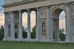 Colonnade Reistna. Is situated about 2 km southwest of Valtice. Currently it serves for the public as a lookout. You can get there following the red tourist Stock Photography
