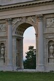 Colonnade Reistna. Is situated about 2 km southwest of Valtice. Currently it serves for the public as a lookout. You can get there following the red tourist Royalty Free Stock Photos