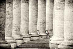 Colonnade in Rome Stock Afbeeldingen