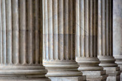 Colonnade In Rome Close Up Royalty Free Stock Image