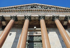 Colonnade of Saint Isaac's Cathedral in St. Petersburg Royalty Free Stock Photos