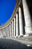 Colonnade on Saint Peter square in Rome Italy Stock Photography