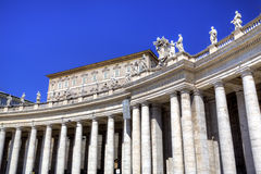 Colonnade of Saint Peters Basilica Royalty Free Stock Images