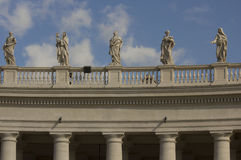 Colonnade in Saint Peters Square royalty free stock images