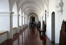 Colonnade of San Felipe Neri cloister Royalty Free Stock Photos