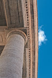 Colonnade of San Pietro in Rome Stock Photography