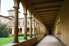 Colonnade in Sanssouci Royalty Free Stock Images