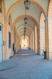 Colonnade in Santarcangelo di Romagna. Italy Europe Stock Photography