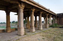 Colonnade of Sarkhej Roza mosque in Ahmedabad Stock Photography