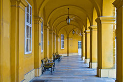 Colonnade in Schoenbrunn Royalty Free Stock Images