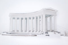Colonnade in the Snow Royalty Free Stock Photo