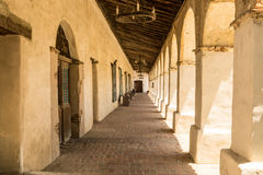 Colonnade at a Spanish Mission Royalty Free Stock Photography