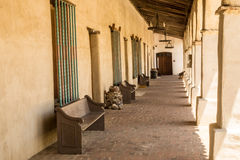 Colonnade at a Spanish Mission Stock Photography