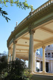 A colonnade. Colonnade of Spreckels Organ (Spanish colonial style architecture). Balboa Park, San Diego, California, USA royalty free stock photography