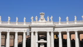 Colonnade in the square. Vatican City, Rome, Ital. Y. Video. UltraHD (4K stock video
