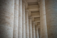 Colonnade on Sr.Peter square. Rome. Royalty Free Stock Photography