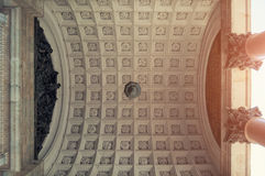 Colonnade of the St Isaac Cathedral in Saint Petersburg, Russia. Colonnade and the ceiling of the St Isaac Cathedral in St Petersburg, Russia Stock Photography